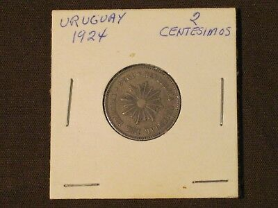 *** 1924  2 Centesimos coin -  Uruguay  - KM# 20   Very nice example.