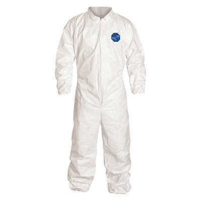 Tyvek Ty125S Coveralls With Elastic Wrist & Ankle, 1/suit.