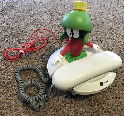 1997 Marvin the Martian Looney Tunes Toshiba Corded Telephone Phone