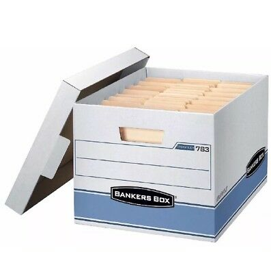 10 Pk Bankers Box Heavy Duty Storage Boxes Letter and Legal Size Documents