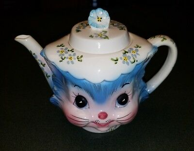 Vintage Lefton  ~ MISS PRISS ~ Covered Tea Pot Teapot 4 Cup 1516 Made in Japan