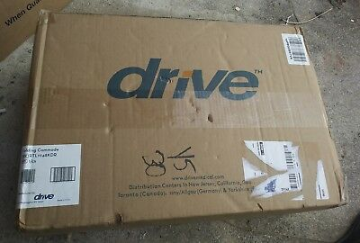 NEW! DRIVE MEDICAL Folding Steel Bedside Commode RTL11148 KDR -*FACTORY SEALED*