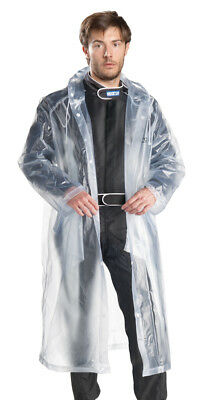 Sparco Karting Rain Suit Waterproof Clear Plastic Suit To Wear Over Race Suit!