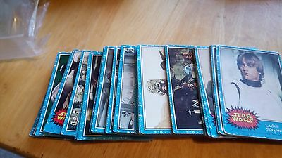 Topps Star Wars Series 1 Complete Blue Set From 1977