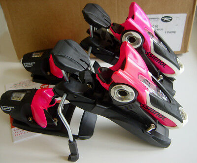Rossignol Axial 3 Axial3 Downhill Snow Ski Bindings B120 Din 3.5 -12 Black Pink