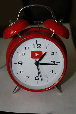 Analog Red Twin Bell Alarm Clock with Backlight and LOUD Alarm