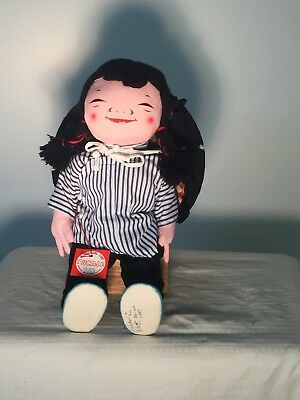 Chinese Peasant Girl with Sun Hat by Michael Lee, Hong Kong's Iconic Doll Maker