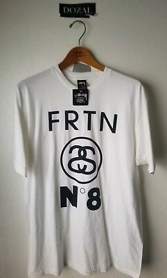 fd6b792af0b STUSSY x FRUITION No. 8 Stuition Sz. LARGE WHITE NEW RARE limited edition  tee