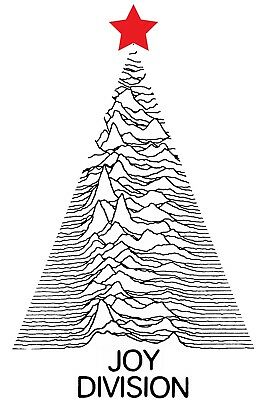"Joy Division Christmas Poster Unknown Pleasures HiQuality Archival Print 20""x30"""