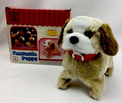 Lovely Little Battery Operated Walking Barking Somersault Puppy Dog Stun Action