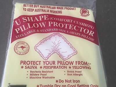 3 X Pillow Protector U Shape Fits Large & Standard Size