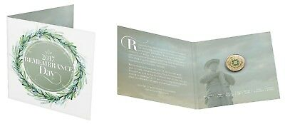 """2017- $2   Rememberance Day    """"C""""  Mintmark   Coloured    Uncirculated Coin"""