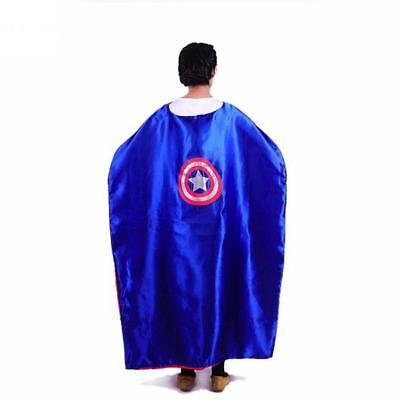Super Hero Fancy Dress Outfit Adult Cape Mask Costume Stag Party Batman Superman