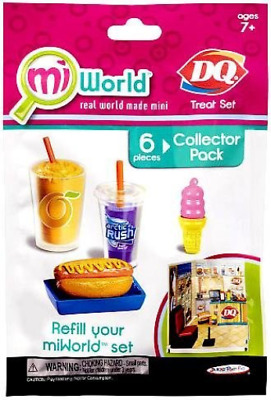 Mi World Collector Pack - DQ Treat Set - 1 Orange Julius Smoothie, 1 Artic Rush,