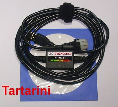 TARTARINI SFI,Etade,EVO,TEC  LPG GPL Diagnose Kabel USB INTERFACE+Softw./Anleitg