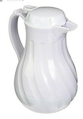 New Update International Swirl White Thermal Coffee Server Carafe 20 oz