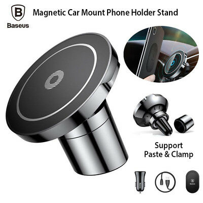 iPhone X 8 Samsung S8 Note8 Baseus Car Mount Qi Wireless Magnetic Charger Holder