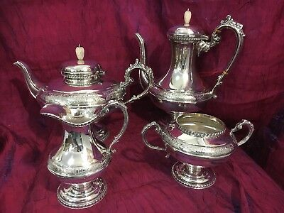 Four Piece Tea And Coffee Service Hand Chased E.P.C 8220