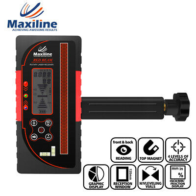 Maxiline DLD100 Digital Reading Laser Receiver for Red Beam Rotary Laser Level