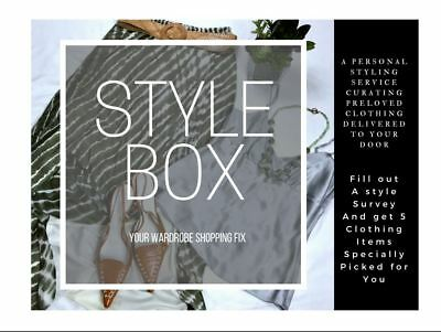 Style Box filled with 5 piece clothing outfit lot styled for you size XS-3XL
