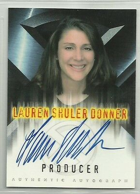 x-men Chase Card with Genuine Autograph,Signed by lauren shuler donner  producer