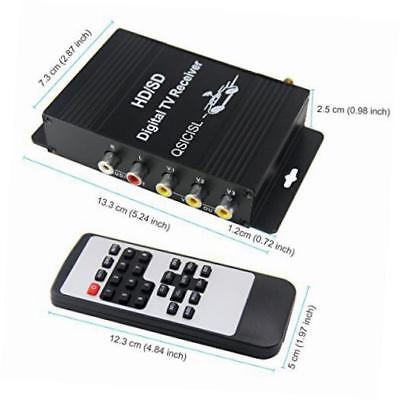 hd car mobile tv tuner atsc digital 4 video output tv receiver box with antenna