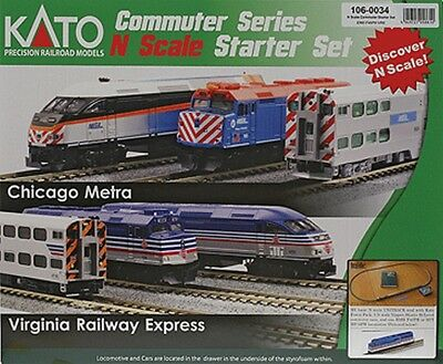 Kato-F40PH Commuter Train Starter Set -- Virginia Railway Express - N