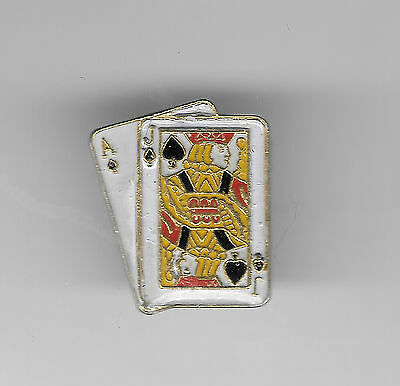 Vintage Blackjack Hand in Spades small b2 old enamel pin