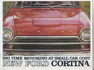 1965 Ford Cortina Sales Brochure Includes New Gt Maughan Thiem Adelaide Sa X33