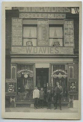 C.1912-15 Antique Photograph W Davies School Of Music Rundle St Adelaide Sa X29.