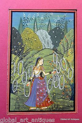 Rare Old Hand Painted Nice Decor Collectible Indian Miniature Painting G77-1