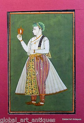 Rare Old Hand Painted Nice Decor Collectible Indian Miniature Painting. G77-2