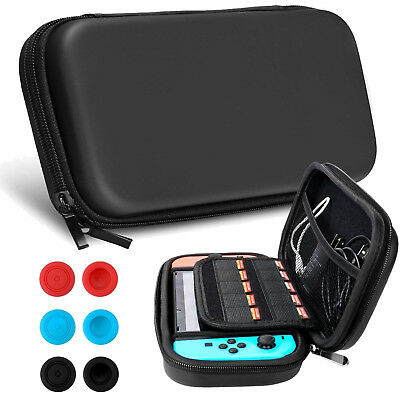Soft Padded Divider Card Travel Carrying Bag Case For Nintendo Switch Double Zip