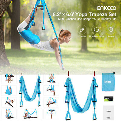 New Yoga Trapeze Set Swing Hammock Fitness Invertion Pilates Sling Anti-Gravity