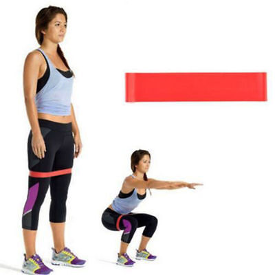 Resistance Loop Bands Mini Band Power  Fitness Exercise Strength Red Bands