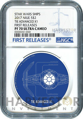 2017 Star Wars Ships: Tie Advanced X1 - Ngc Pf70 First Releases W/ogp - 6Th Last