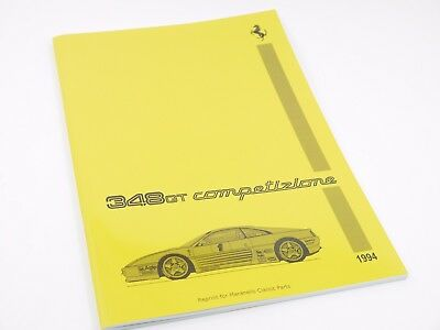 Ferrari 348 GT 1994 - Spare Parts Catalogue Reprint