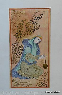 Rare Hand Painted Fine Decorative Collectible Indian Miniature Painting. G77-21