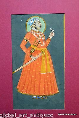 Rare Hand Painted Fine Decorative Collectible Indian Miniature Painting. G77-27