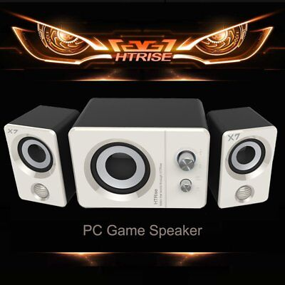 USB Powered Computer Speaker w/ Subwoofer System Laptop PC Desktop 2.1 Stereo