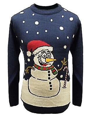 Unisex Kids Christmas Jumper Girls Boys Xmas Jumper Snowman With Candy