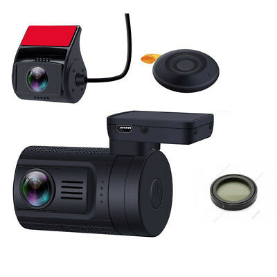 Dash Camera Mini 0906 Dual Lens 1080P 30FPS GPS DVR Remote Control Night Vision