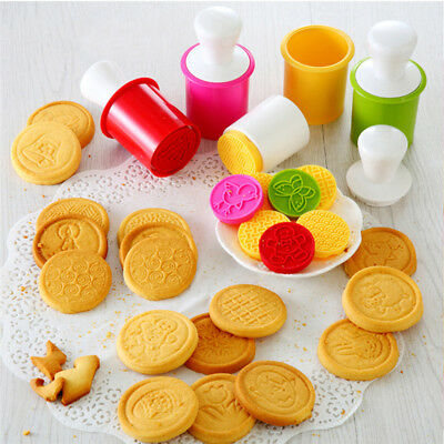6Pcs/set Christmas Pattern Stamp Cookie Cutter Biscuit Baking Mold DIY Mould