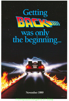 BACK TO THE FUTURE II MOVIE POSTER 27x40 Advance Style Single Sided