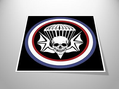 Skull Skydive Logo Stickers x2 Skydiving / Parachuting Airborne Decal Helmet