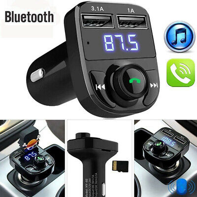 Wireless Bluetooth FM Transmitter Radio Adapter Car Kit USB Charger Handsfree CA