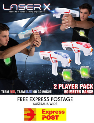 LASER X Double Pack - 2 Player Laser Tag Gaming Game Set Two Player Lazer Guns