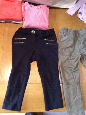 next girls black khaki green jeans trousers age 3 years xmas party bundle free p
