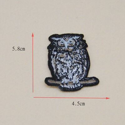Embroidered owl Ironon patches sew on Applique clothe Bag badge Hat Fabric Craft