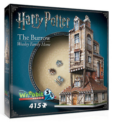 3D Puzzle - Harry Potter - Fuchsbau - The Burrow, 415 Teile, Rowling, Wrebbit